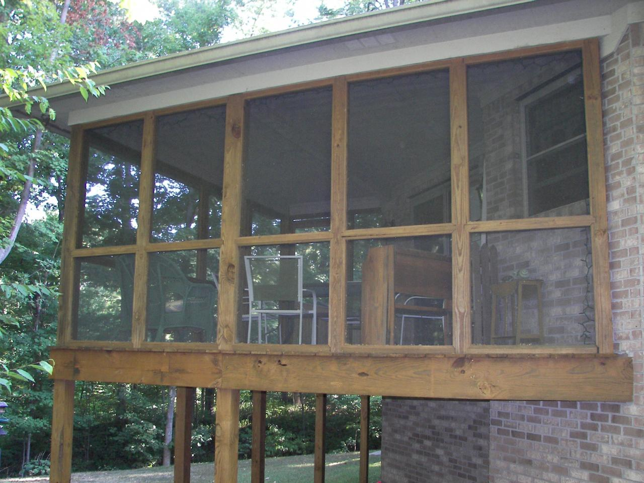 Pics of screened in porches on mobile home joy studio for Balcony screen